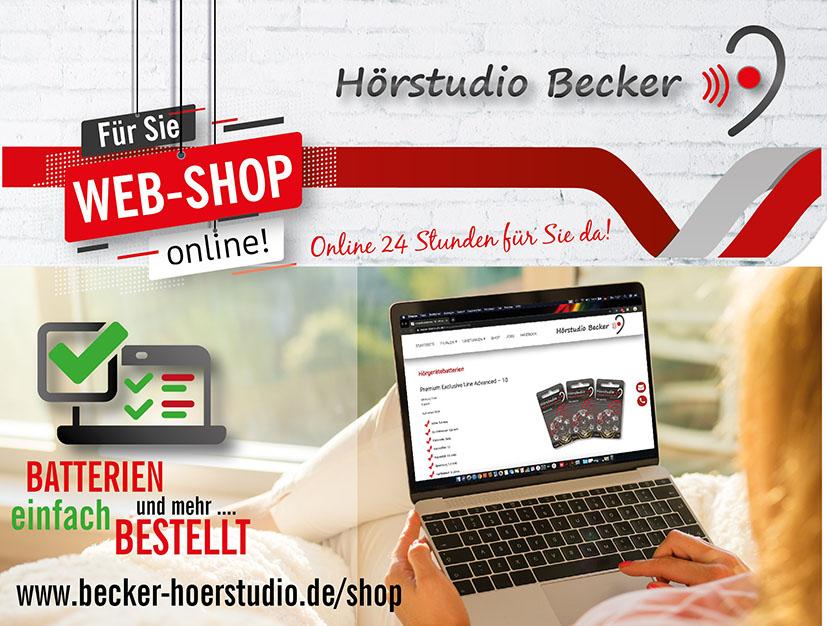 Unser Webshop – für Sie online!